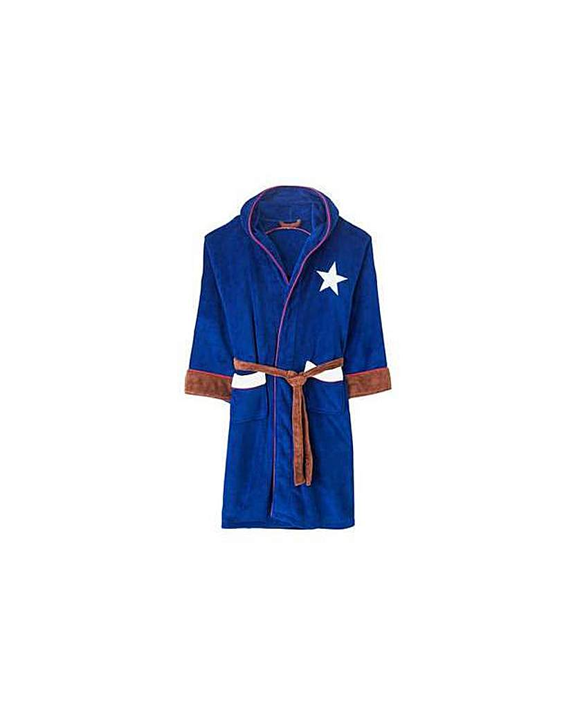 Captain America Adult Fleece Robe.