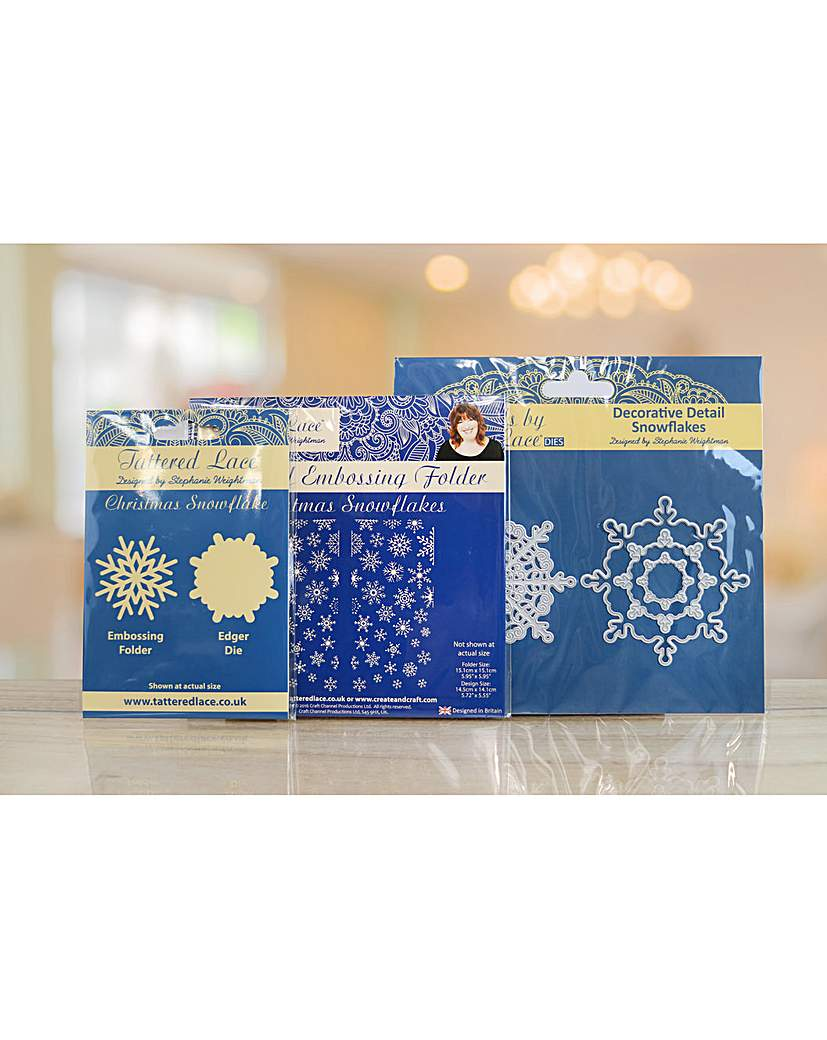Tattered Lace Snowflake Gatefold Set