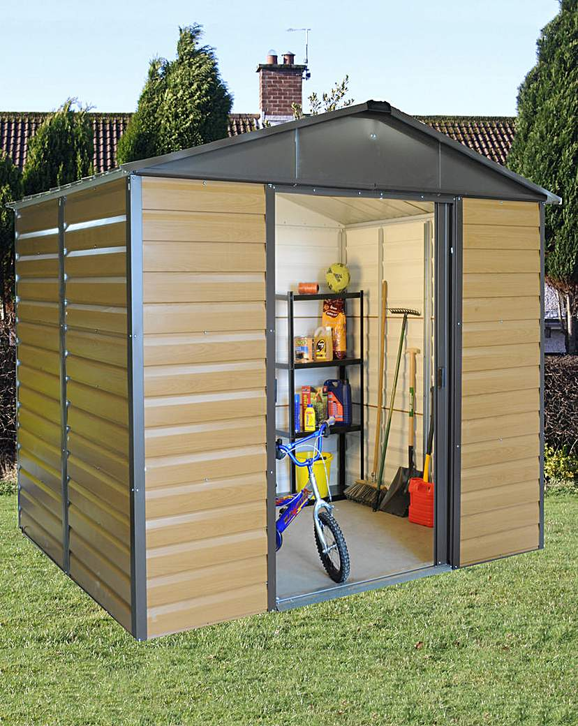 Yardmaster 8x6ft Woodgrain-Effect Shed