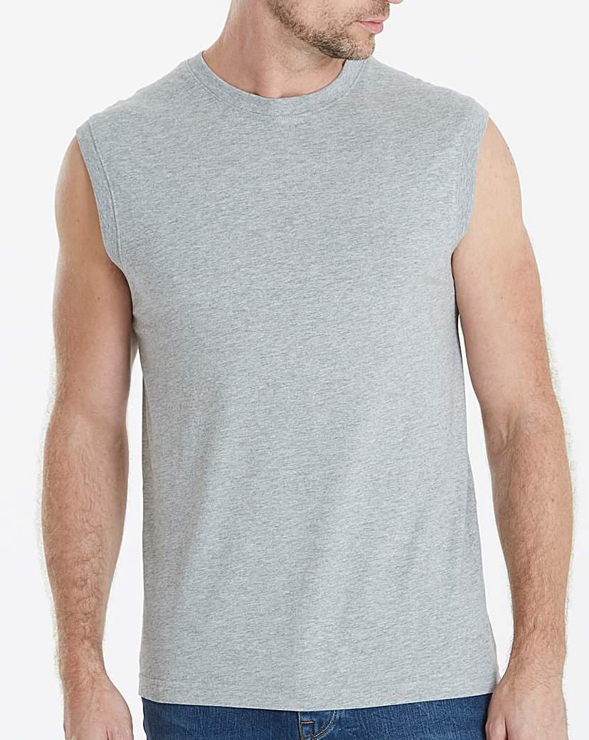 Capsule Grey Marl Muscle Top.