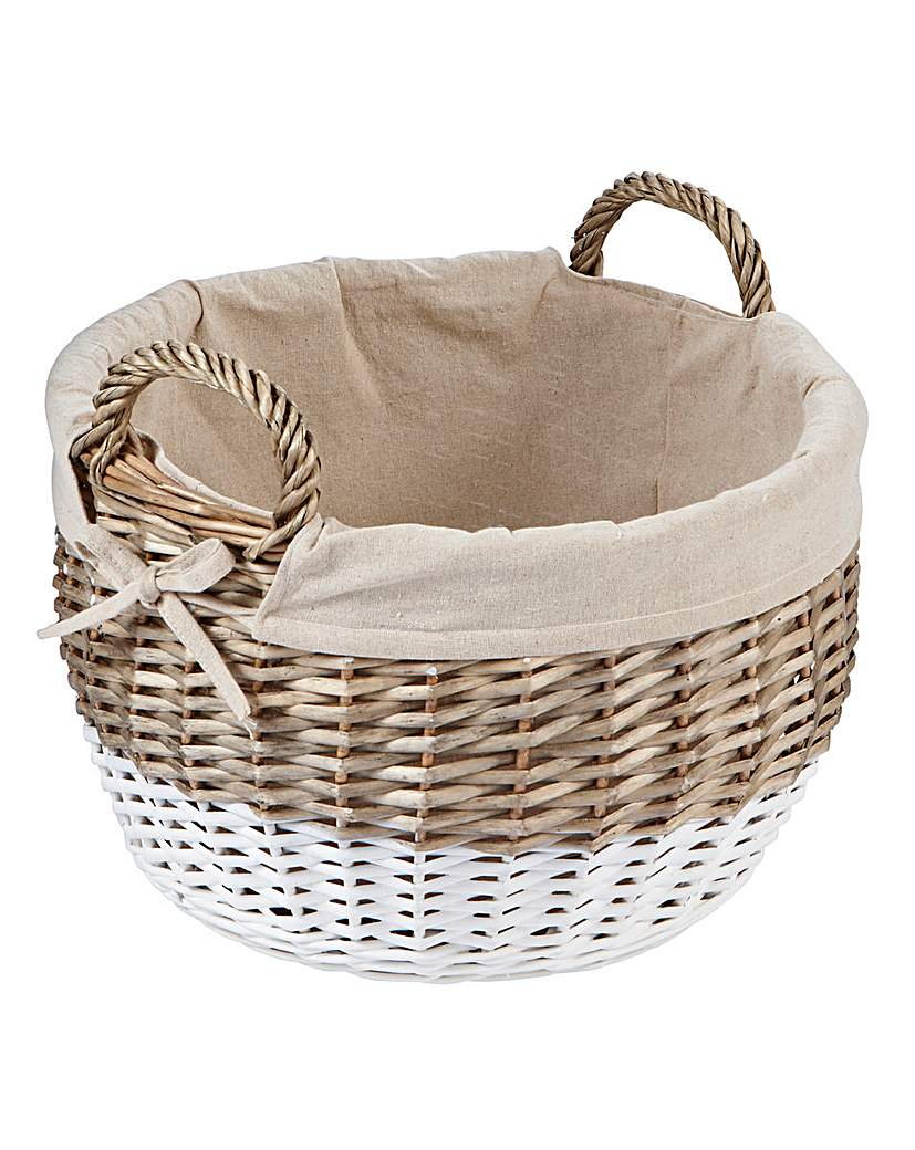 Image of Dipped Oval Basket with Lining