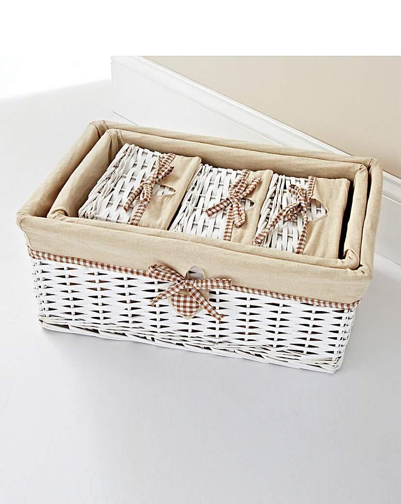 Image of Gingham Heart Set of 5 Baskets