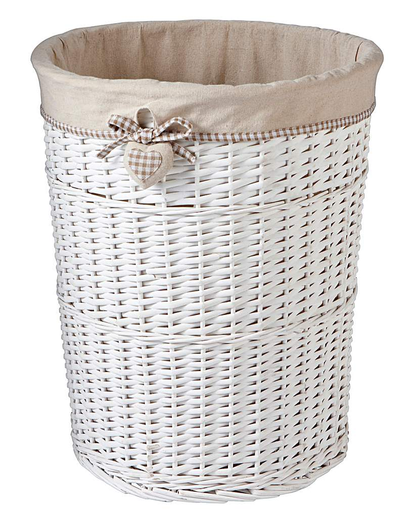 Image of Gingham Heart Laundry Basket