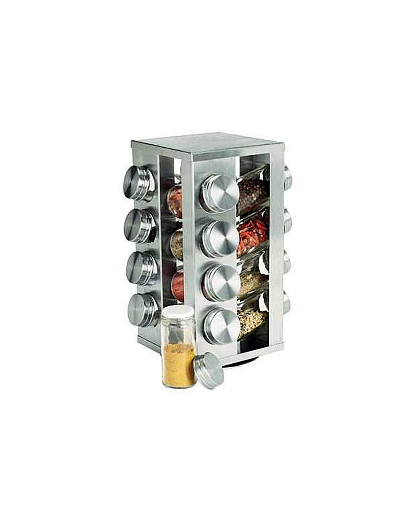 16 Jar Stainless Steel Spice Rack