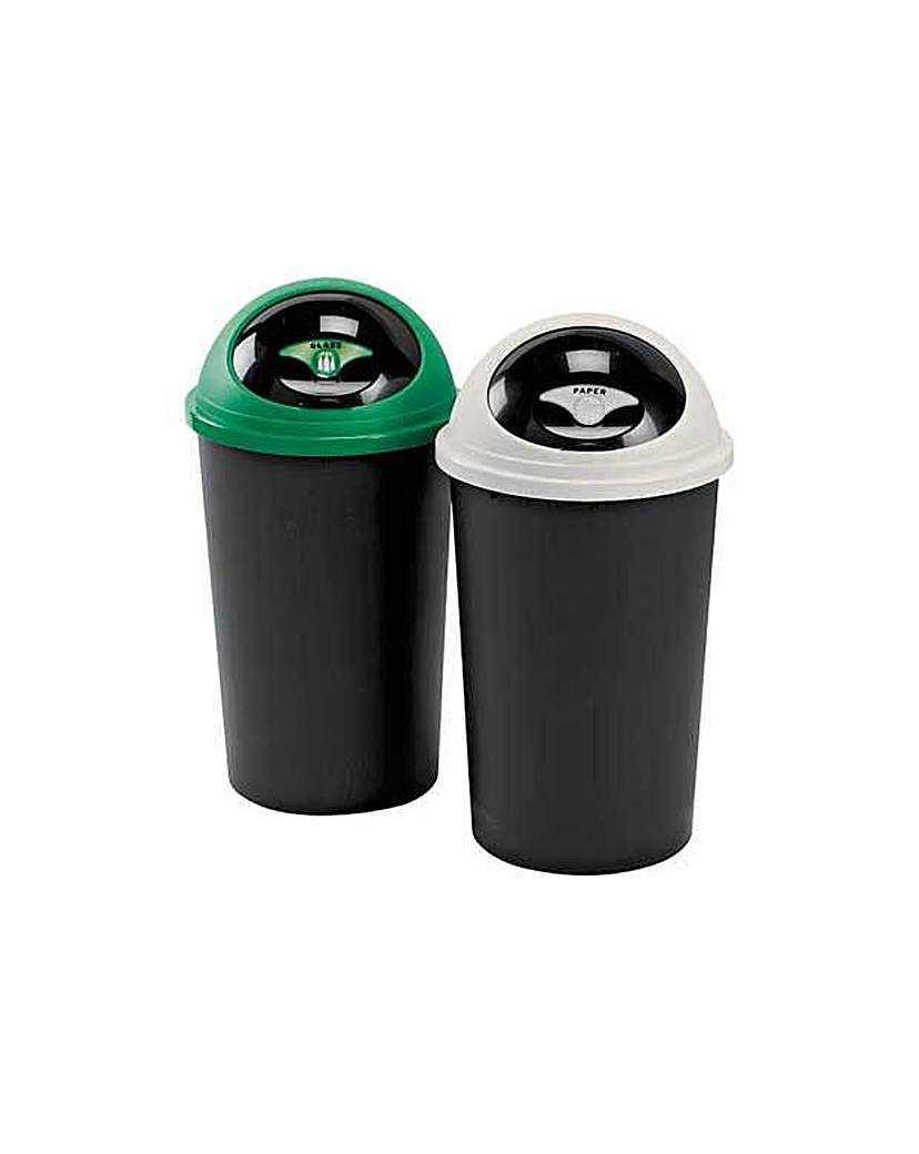 Image of 25 Litre Recycle Bin Twin Set.