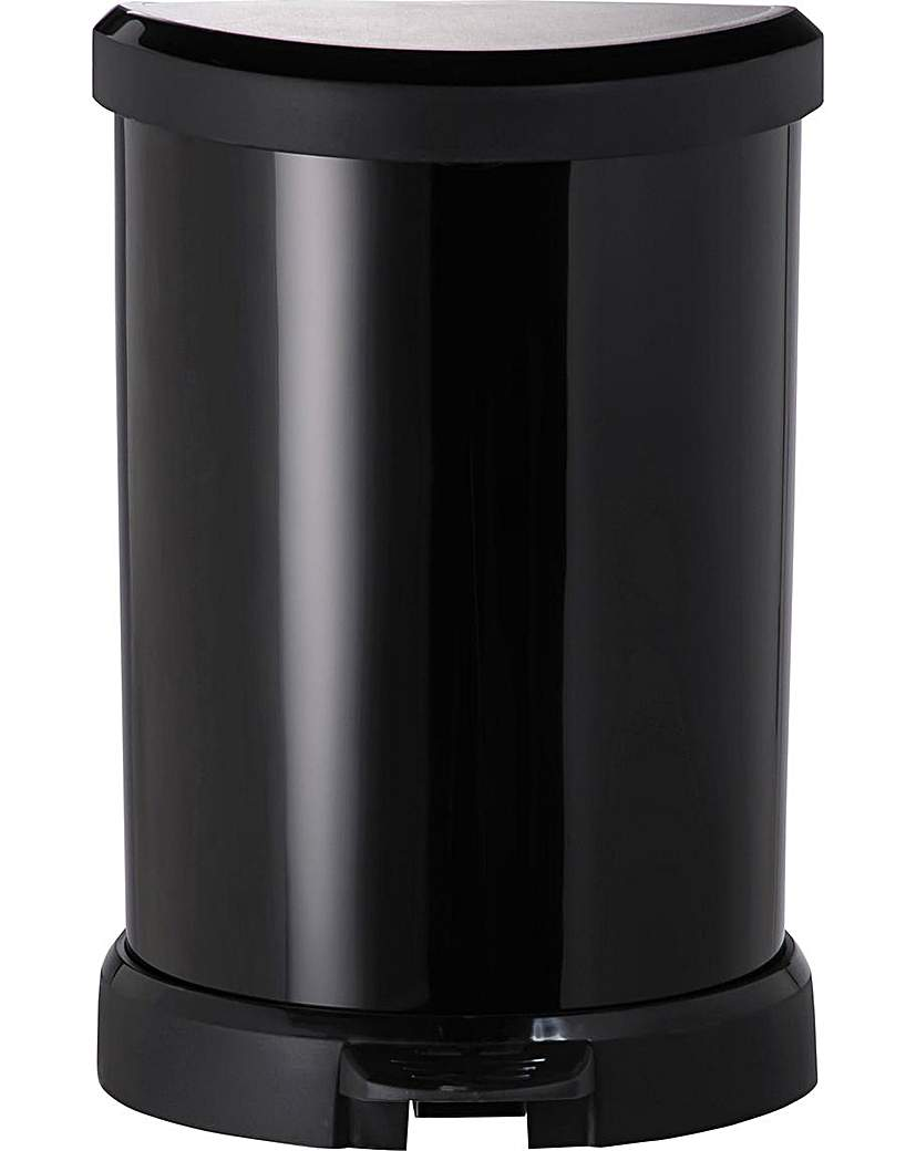 Curver 20L Deco Bin - Black.
