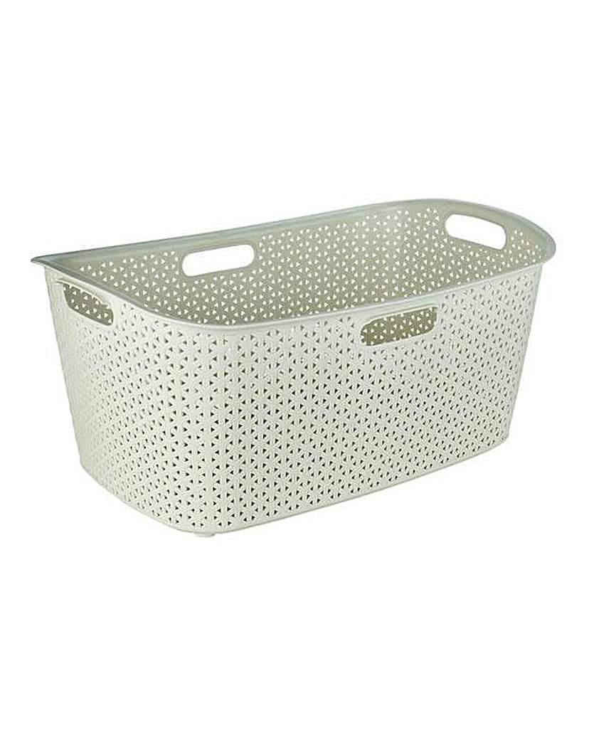 Curver Rattan Laundry Basket - Cream.