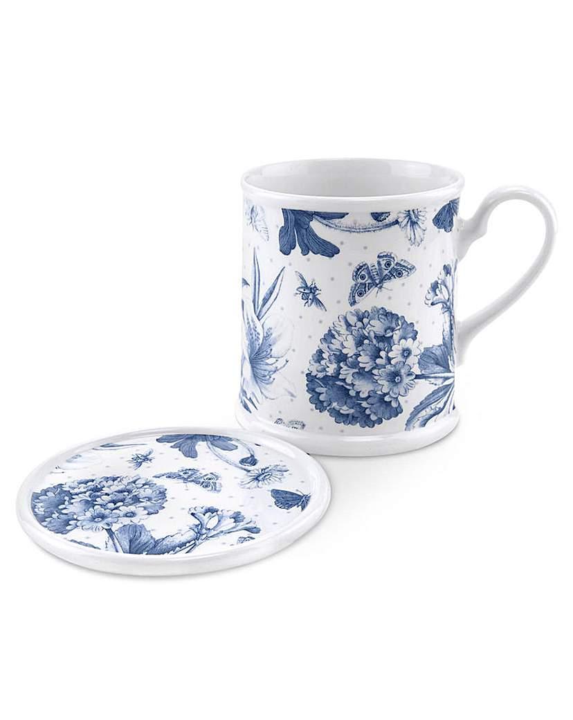 Portmeirion Botanic Blue - Mug & Coaster