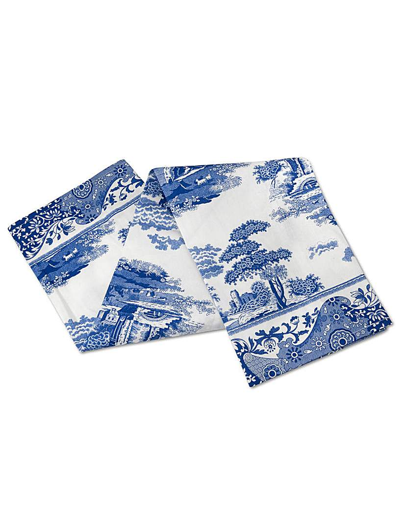 Image of Blue Italian Tea Towel