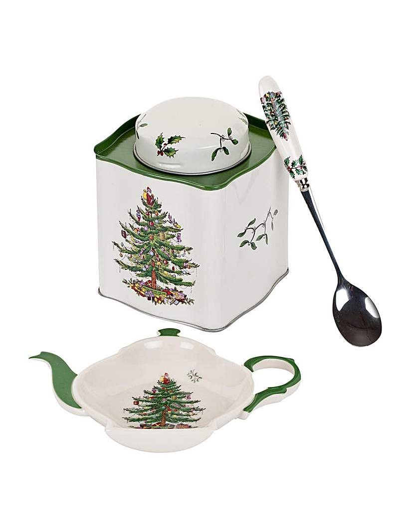 Image of Christmas Tree Three Piece Tea Set