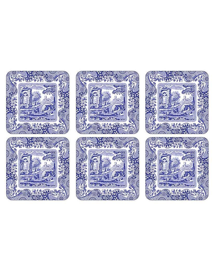 Image of Pimpernel Blue Italian Coasters