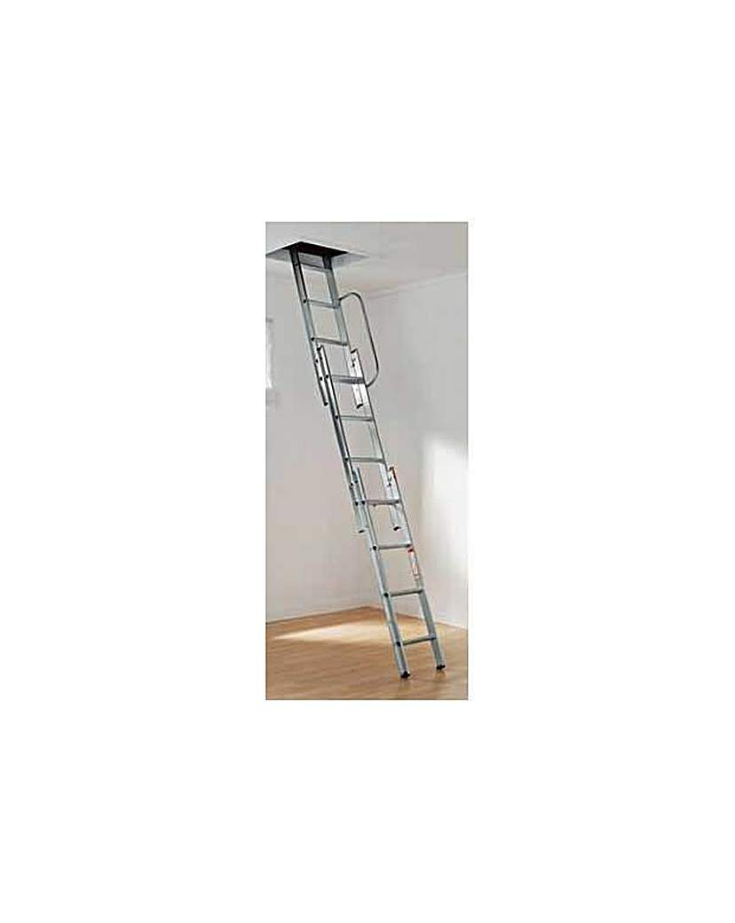 Abru 3 Section Loft Ladder With Handrail