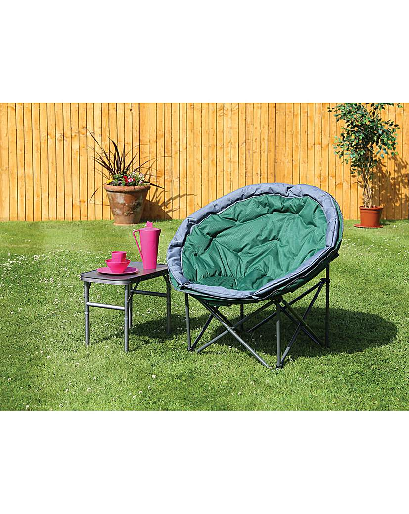 Image of Deluxe range large green moon chair