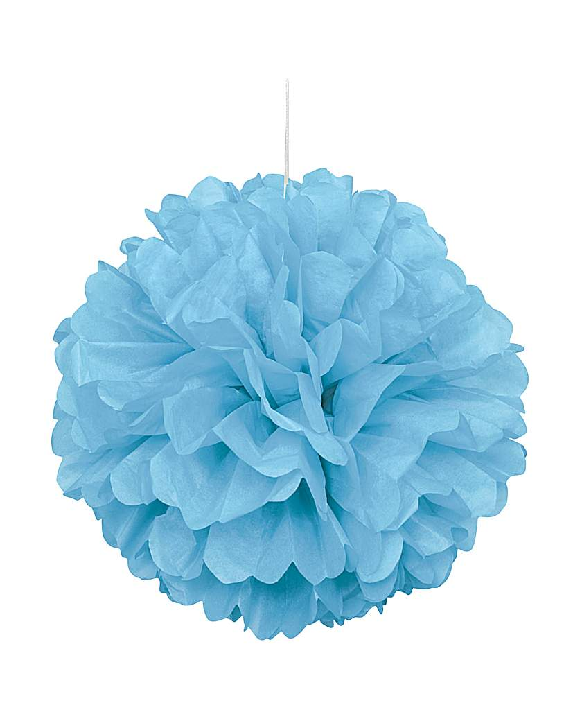 "Image of Paper Decorations Puff Balls 16"" x 3"