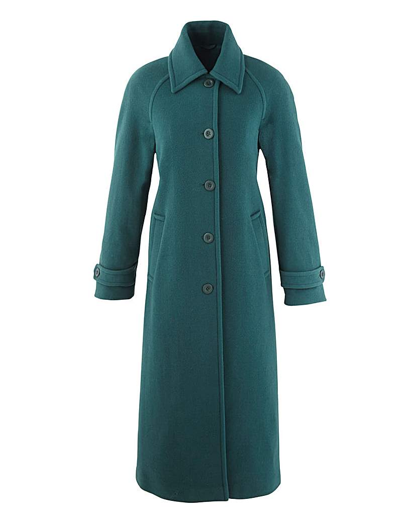 1930s Style Coats Grazia Longline Coat Length 47in £90.00 AT vintagedancer.com