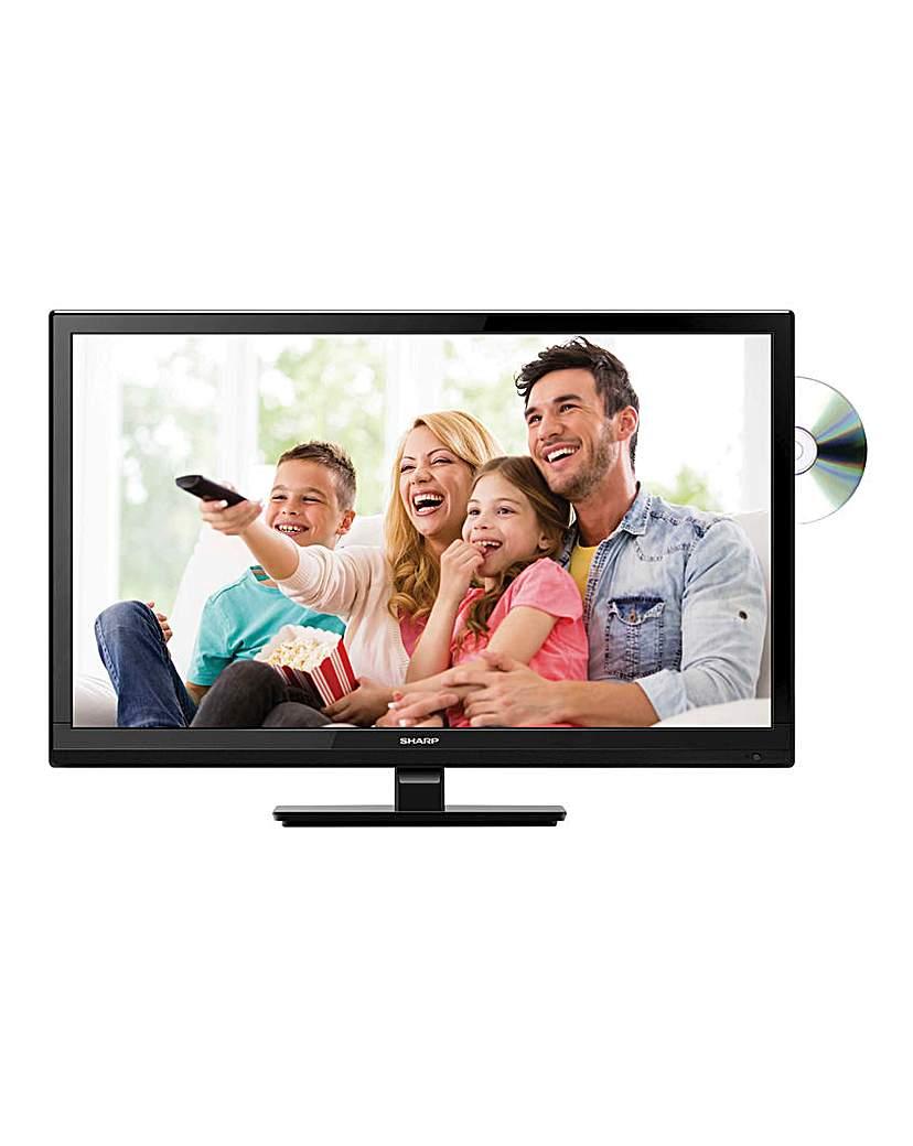 Sharp 24in LED/DVD Combi Black TV