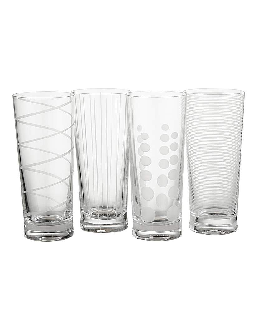Image of Mikasa Cheers Set of 4 High Ball Glasses