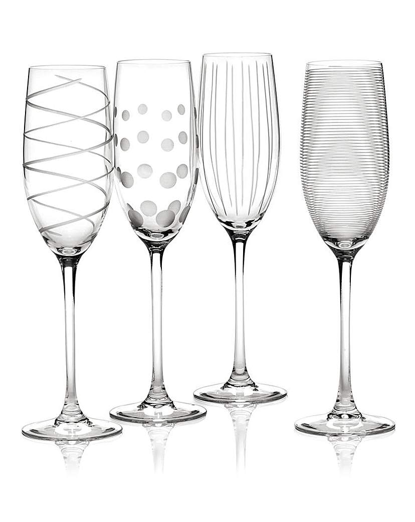 Image of Mikasa Cheers Set of 4 Flute Glasses