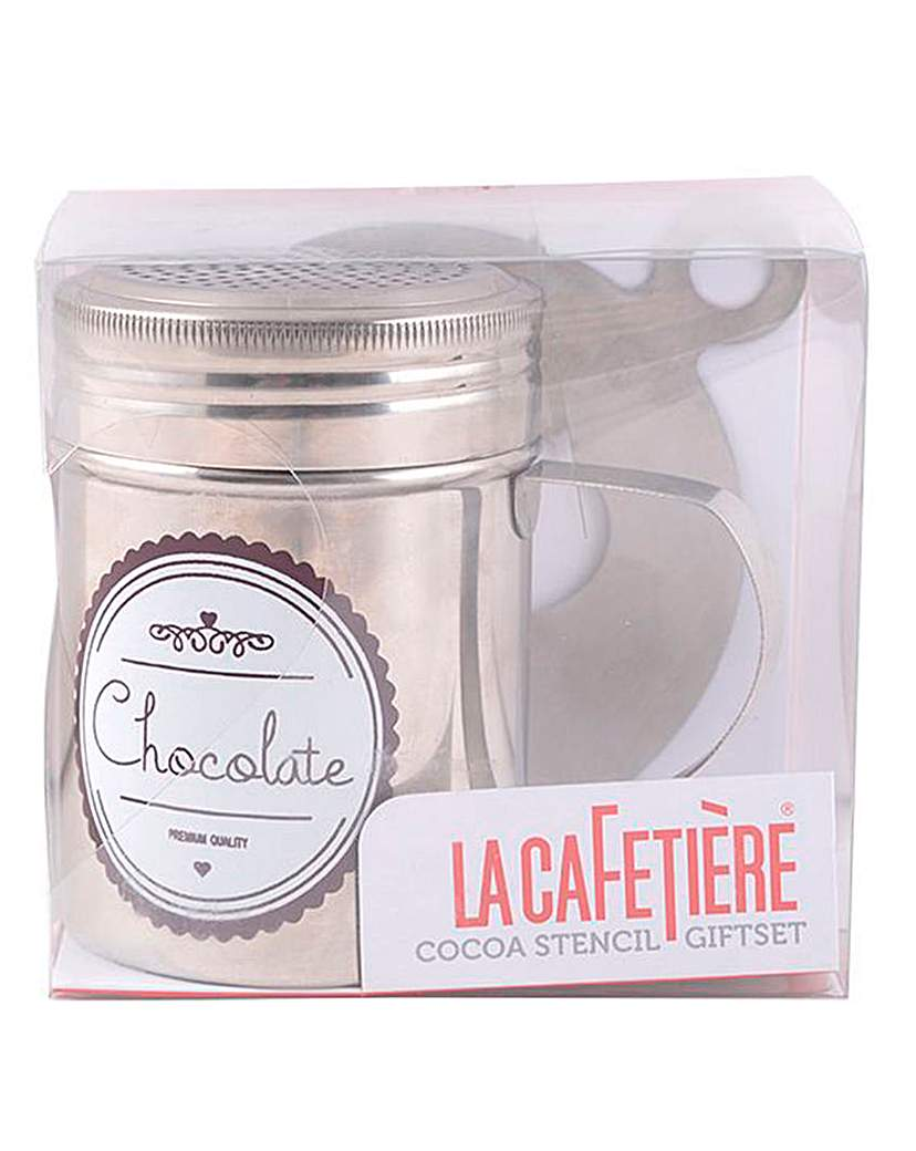 Image of La Cafetiere Cocoa Shaker and Stencil
