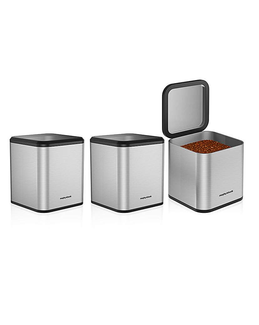 Morphy Richards Equip Set of 3 Canisters