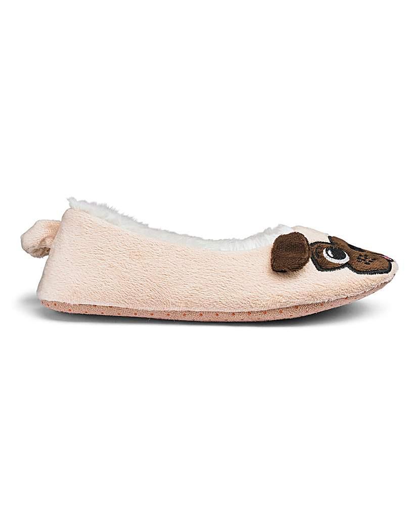 Image of Pug Ballerina Slipper