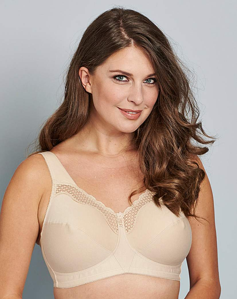 Bestform Nude Cotton Comfort Bra.