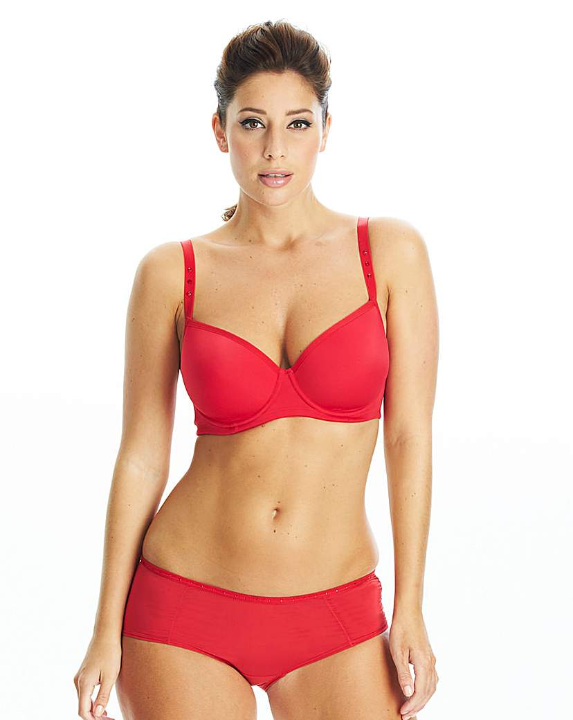 Image of After Eden Red Balcony Bra