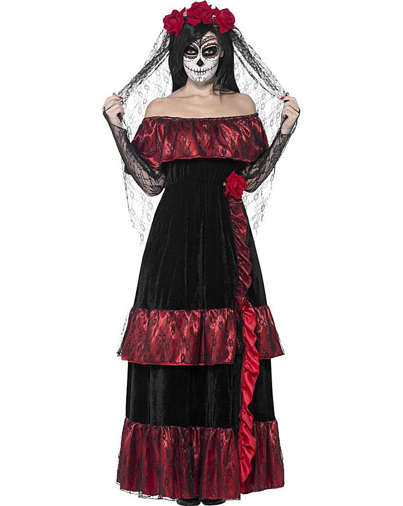 Product photo of Halloween day of the dead bride costume