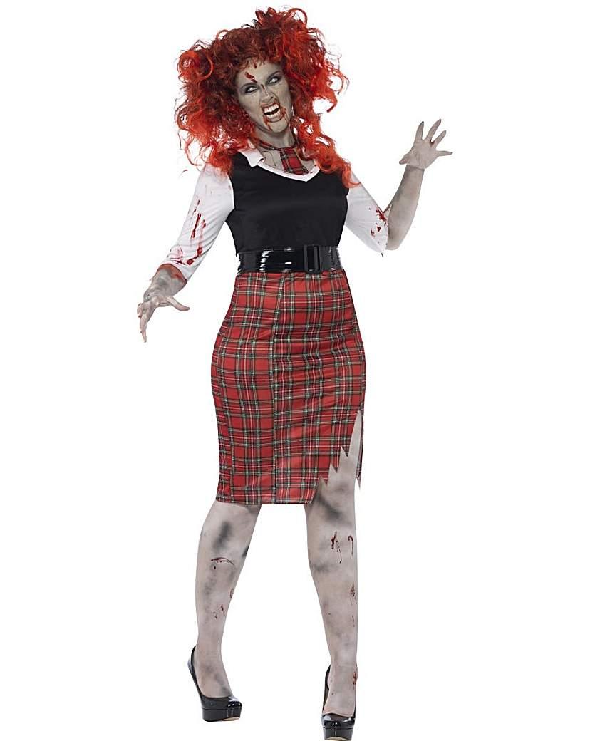 Product photo of Halloween curves zombie schoolgirl