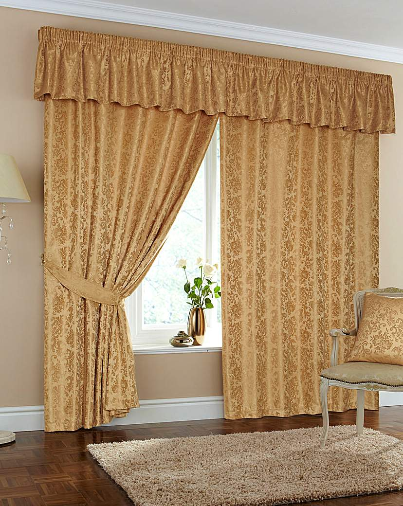 Hereford Jacquard Pencil Pleat Curtains