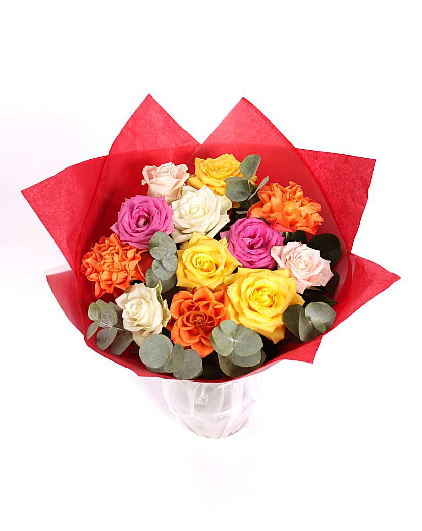 Image of Colourful Mixed Rose Bouquet