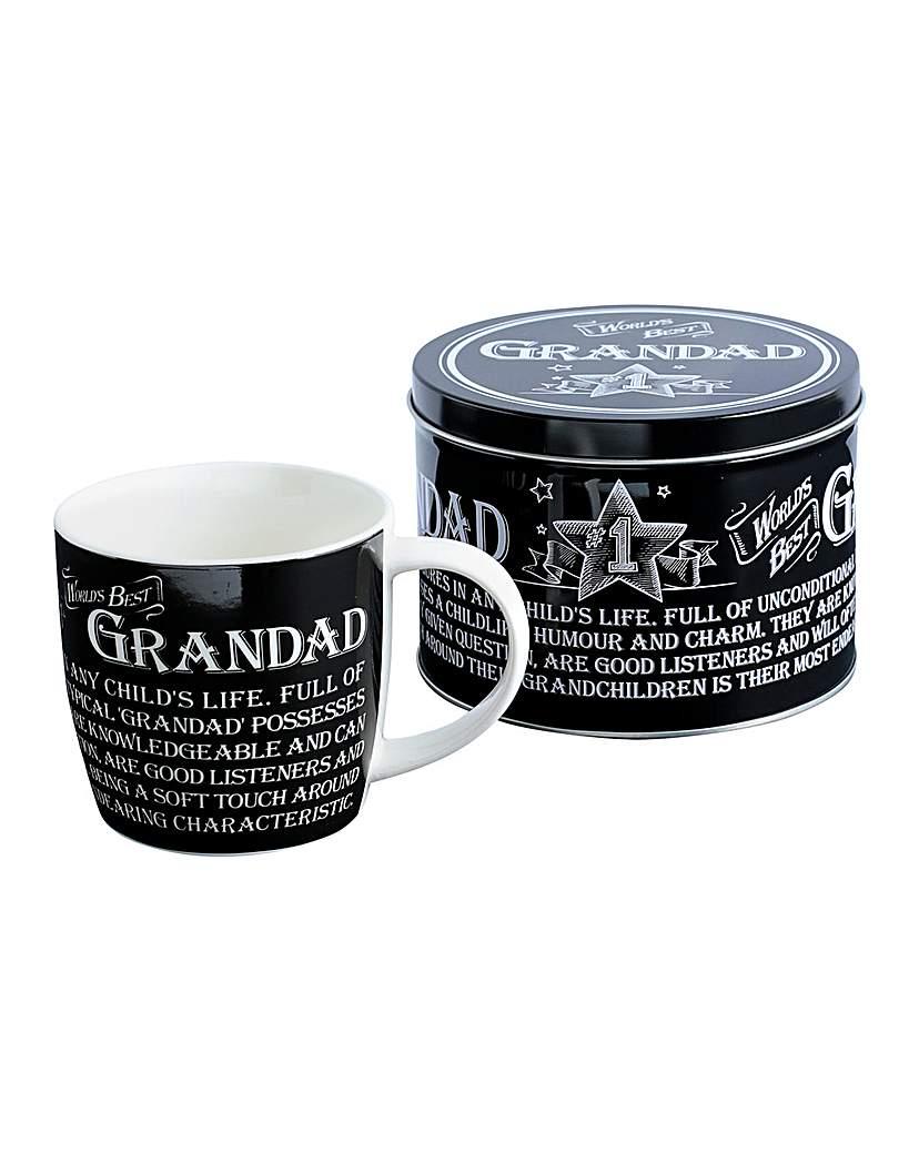 Image of Best Grandad Mug in a Tin