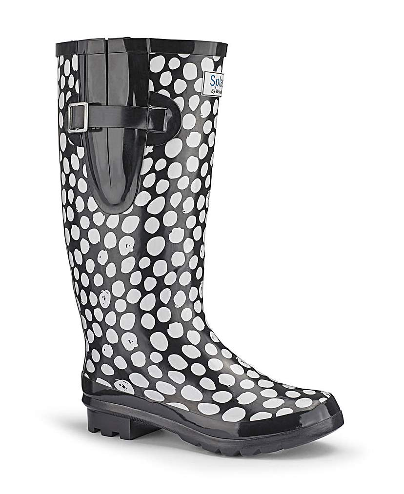 Splash Miss Polka Wide EEE fit Wellies