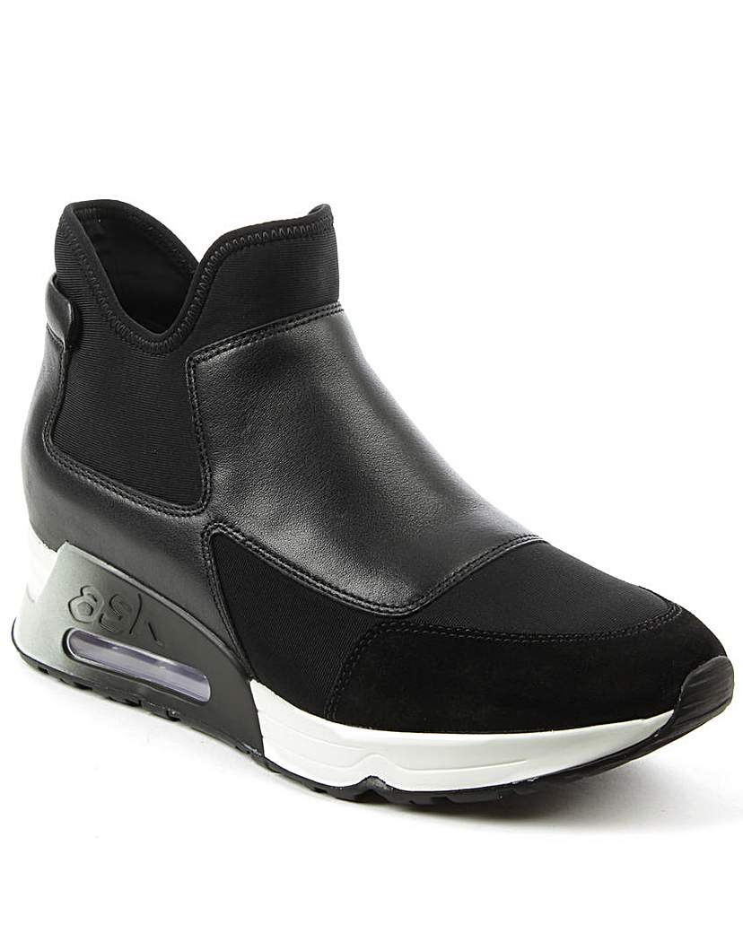 Ash Black Leather High Top Trainer