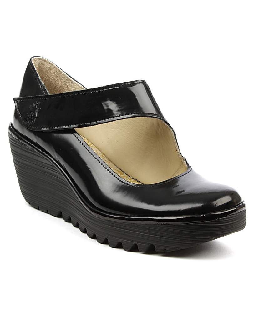 Fly London Black Patent Mary Jane