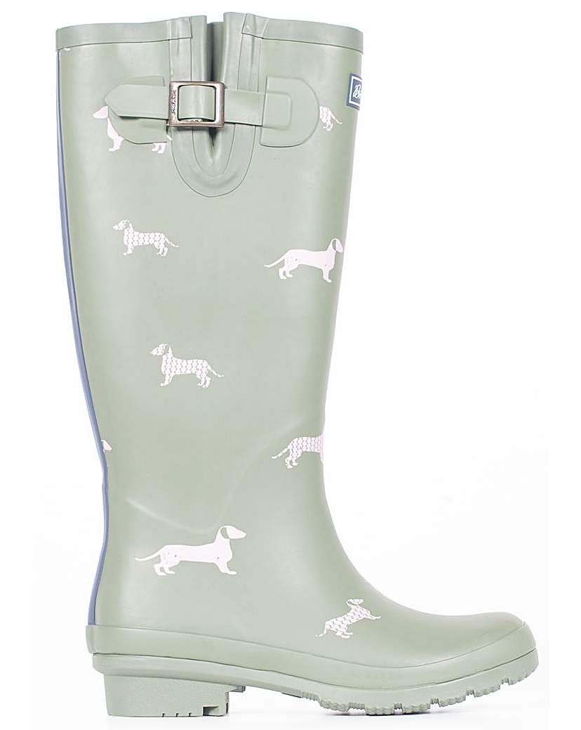Vintage Style Boots Brakeburn Sausage Dog Welly £42.00 AT vintagedancer.com