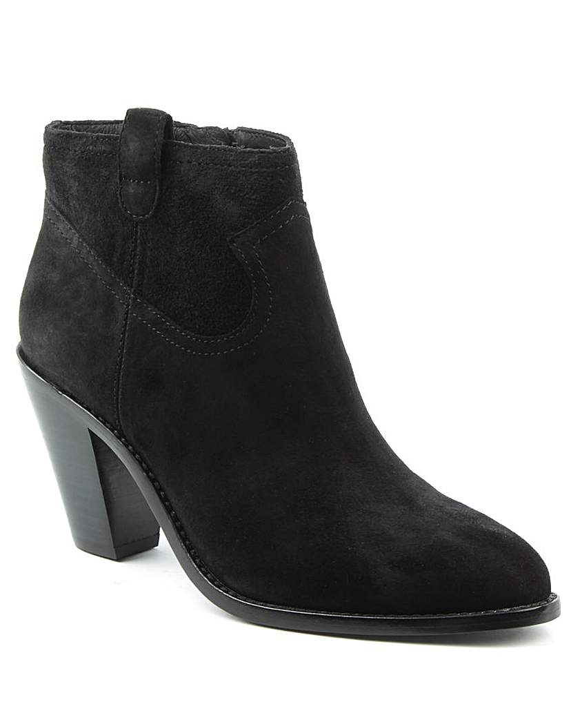 Ash Black Suede Cowboy Ankle Boot