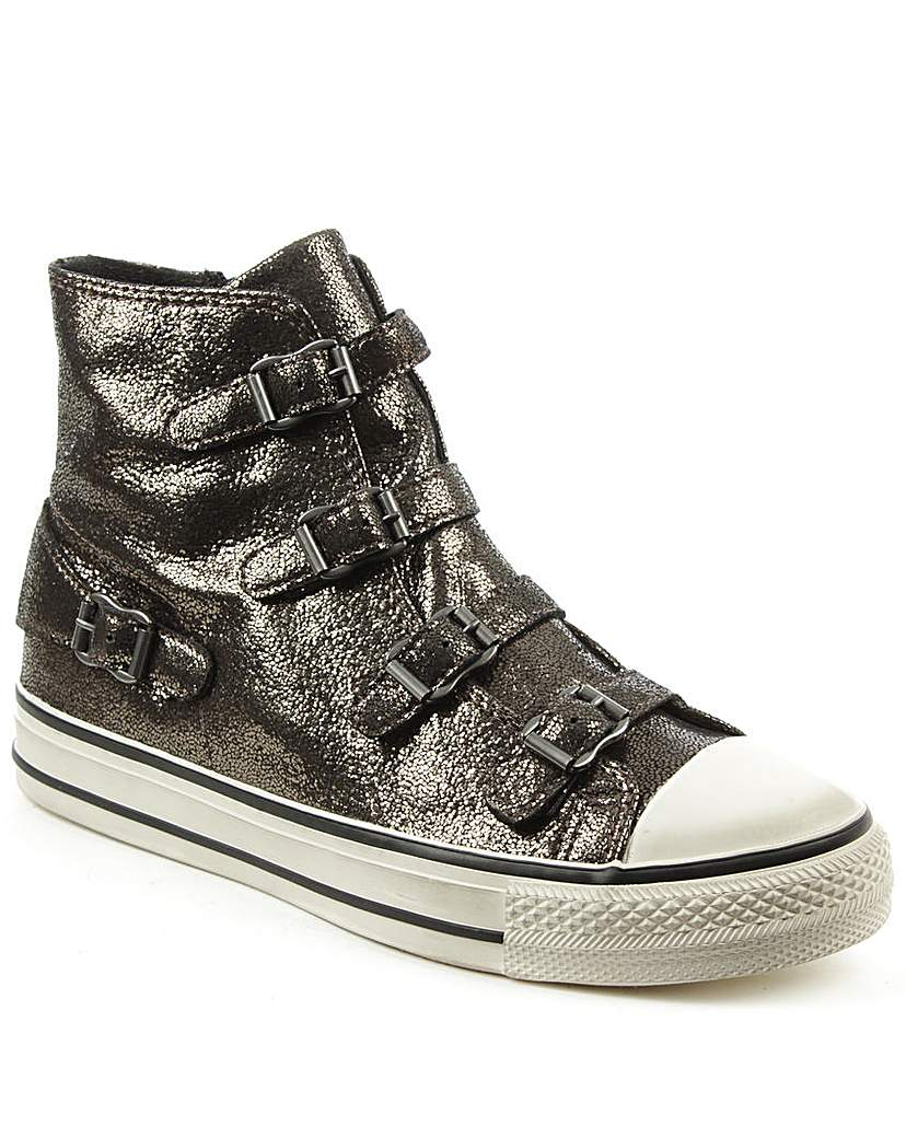 Ash Black Metallic Womens Trainer