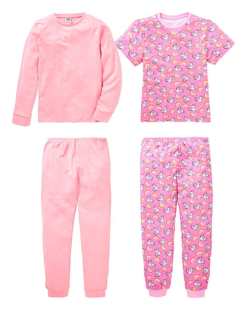 KD Girls Pack of Two Pyjamas