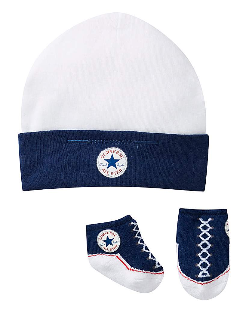Image of Converse Baby Hat and Bootie Set