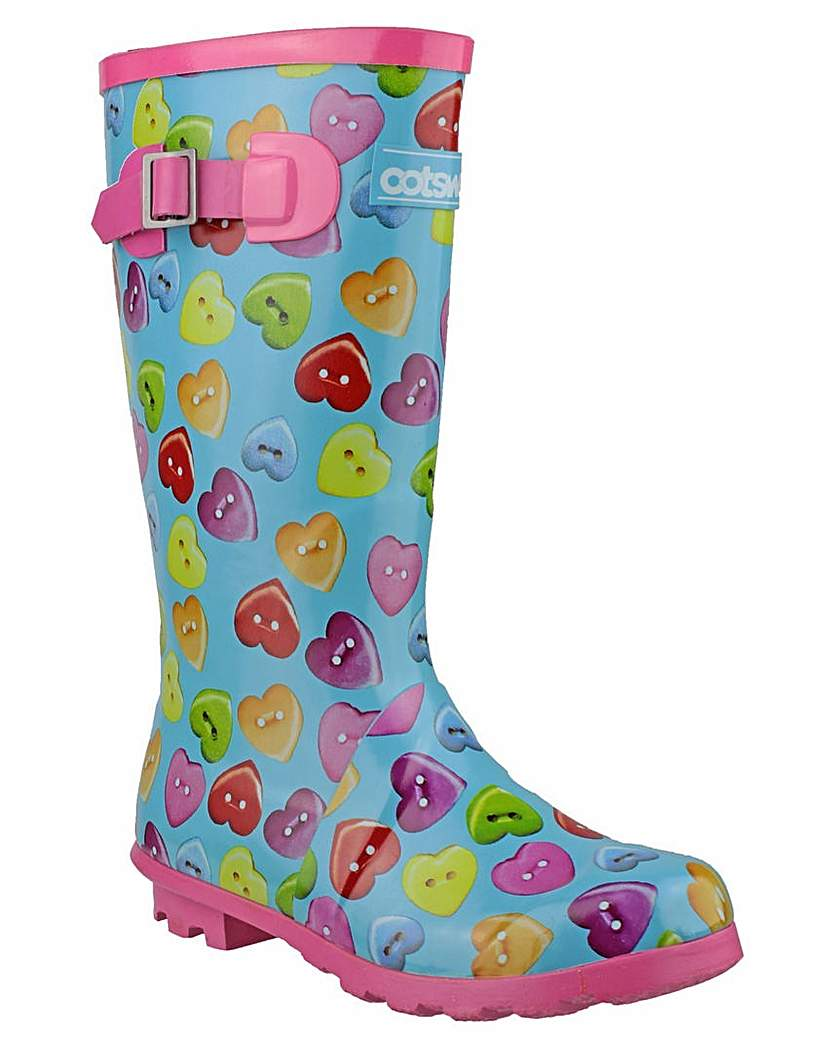 Image of Cotswold Childrens Button Heart Wellies
