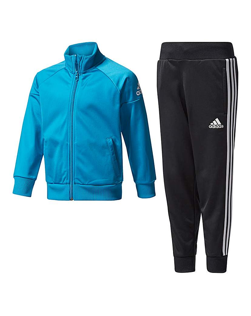 Image of adidas Little Boys Knitted Tracksuit