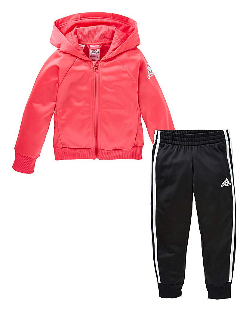 Image of adidas Little Girls Knitted Tracksuit