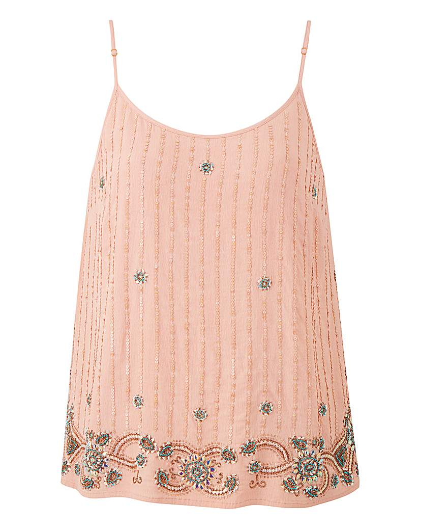 Blush Beaded Cami.