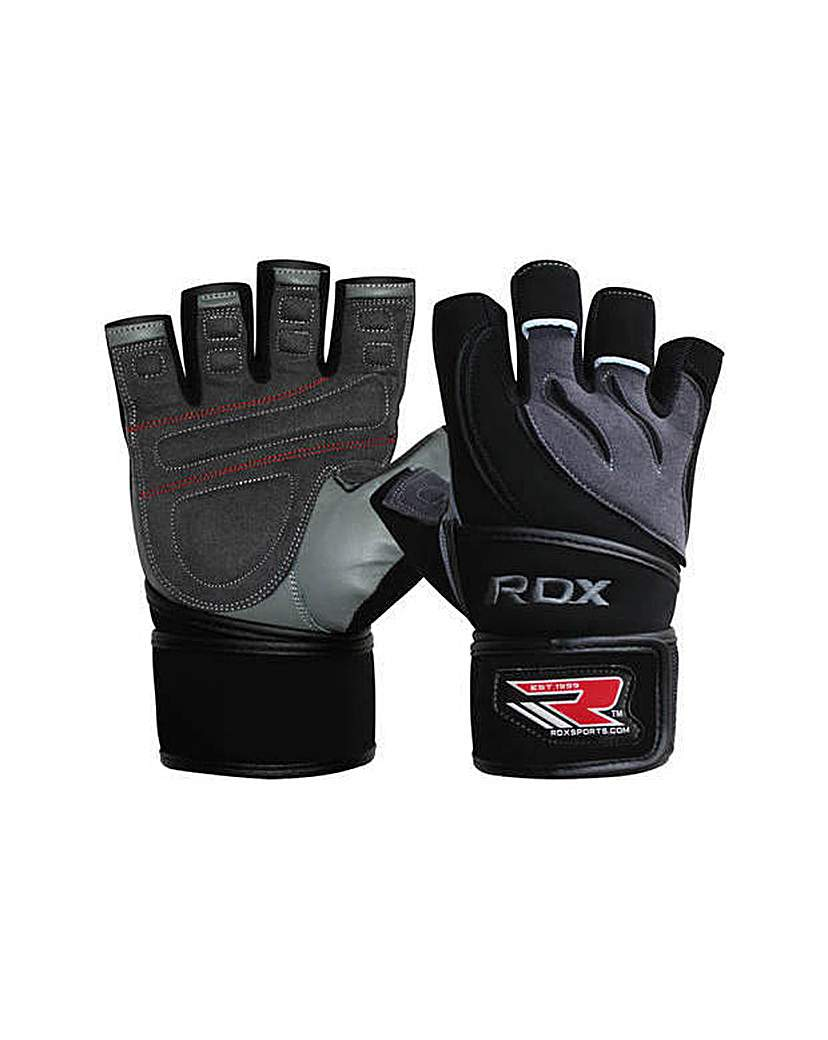 Leather Weight Lifting Gloves with Strap