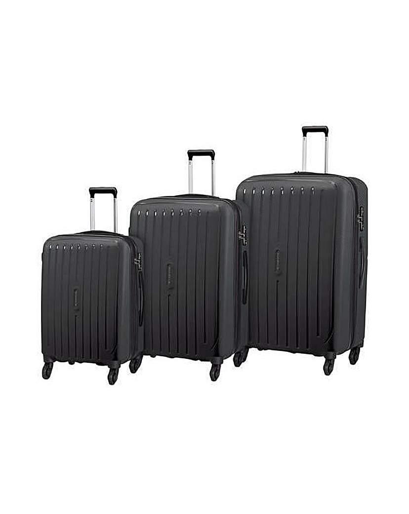 Image of Small 4 Wheel Hard Suitcase - Black