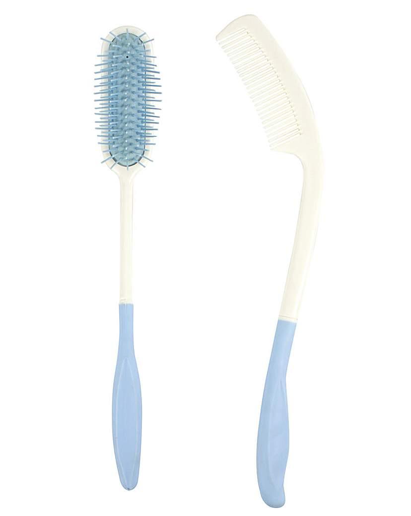 Image of A/L Long Reach Comb & Brush Set