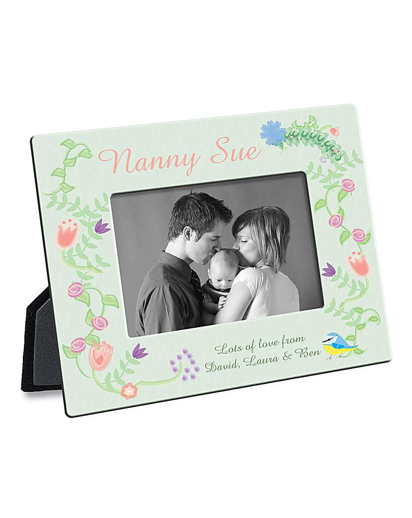 Personalised Floral Garden Photo Frame