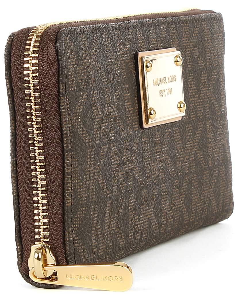 Michael Kors Logo Zip Around Wallet