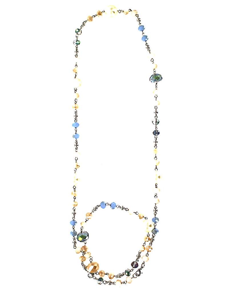 Image of Lizzie Lee Long Facet Bead Necklace
